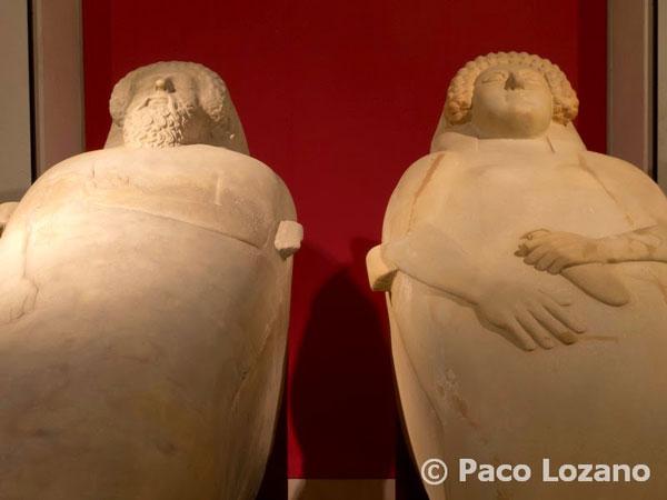 Sarcófagos fenicios en el Museo de Cádiz