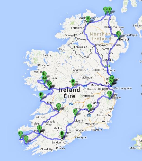 Itinerario por Irlanda